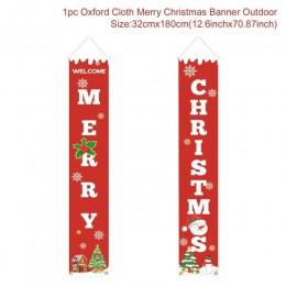 Huiran wesołych świąt ganek znak drzwi dekoracyjne Banner ozdoby świąteczne dla domu wiszące ozdoby świąteczne Navidad 2019