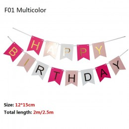 Multi Themes baner urodzinowy Baby Shower dekoracje na imprezę urodzinową foto budka urodzinowe flagi Garland flagi