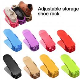 10 sztuk 6 sztuk 2 sztuk trwała regulowana Organizer na obuwie obuwie wsparcie gniazdo oszczędność miejsca szafka stojak stojak