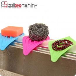BalleenShiny plastikowa mydelniczka antypoślizgowa kuchnia gąbka do zlewu organizator spustowy i czysty mydło gadżet łazienka sc