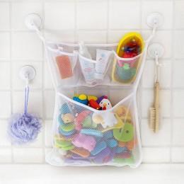 Łazienkowa torba do przechowywania składany Organizer ekologiczna siatka łazienkowa dla dzieci torba do przechowywania zabawek s