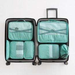 Wysokiej jakości 7 sztuk/zestaw walizka organizator Koffer organizator zestawy Organizer bagażu pralnia worek opakowanie zestaw