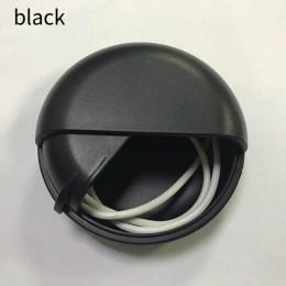 Linia danych kable pudełka do przechowywania Cute Cartoon przewód słuchawkowy Box okrągła obrotowa pokrywa plastikowe przenośne