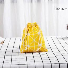 ONEUP przenośne torby ze sznurkiem bawełniana torebka do przechowywania torby podróżna kosmetyczka odzież buty organizacja na ub