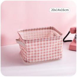 MICCK składany kosz do przechowywania na biurko schowek na różności bielizna Organizer na kosmetyki biżuteria szalik torby do pr