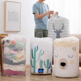 Składane miejsce do przechowywania torba na ubrania kocyk do okrywania szafa Organizer do swetrów woreczki na pudełka wysokiej j