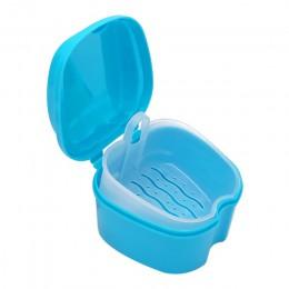 Pudełko typu Organizer do kąpieli dentystycznej Dental sztuczne zęby schowek z wiszącym pojemnikiem netto czyszczenie zębów sztu