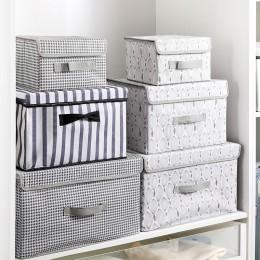 Nowa duża kostka włóknina składany schowek na zabawki organizatorzy pojemniki do przechowywania tkanin z pokrywką strona główna