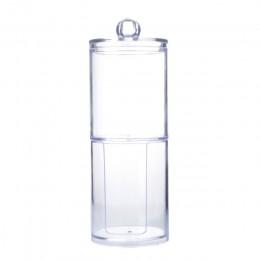 Wyczyść wacik bawełniany akrylowy wacik kosmetyczny pojemnik do przechowywania pudełka przezroczyste waciki q-tip schowek Case o