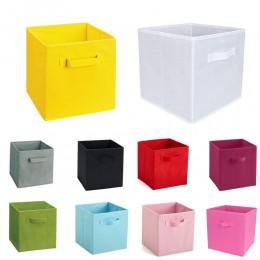 Nowe włókniny składane pudełko do przechowywania w szafce zabawki organizator pojemnik na ubrania bin na bieliznę biustonosz ska