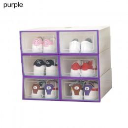 6 sztuk/zestaw zagęszczony klapki buty przezroczysta walizka z szufladami plastikowe pudełko na buty es pudełko z szufladami sch