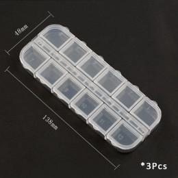Praktyczne przechowywanie biżuterii regulowany pojemnik z tworzywa sztucznego schowek biżuteria kolczyk Bin Case pojemnik pudełk
