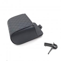 Auto wylot wentylacyjny kosz na śmieci PU skórzany uchwyt samochodowy do telefonu przechowywanie organizator do torby samochodow