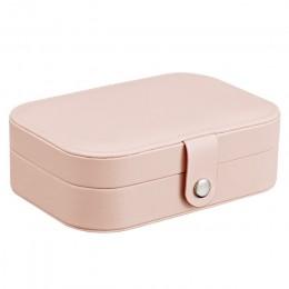Biżuteria Box Travel Comestic biżuteria trumna organizator makijaż stojak na szminki uroda pojemnik naszyjnik prezent urodzinowy