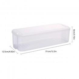 Kosze do przechowywania z tworzywa sztucznego pudełko do lodówki pojemniki do przechowywania żywności z pokrywką do lodówka do k