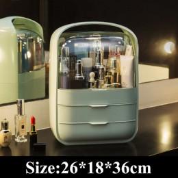 Przezroczyste organizer na kosmetyki kreatywne pudełko na przybory do makijażu przenośny organizer na biurko szuflada schowek po