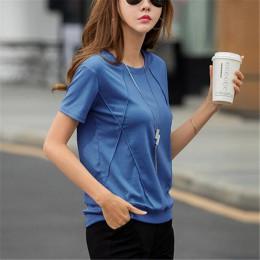 T-shirty damskie miękkie bawełniane Casual Women topy koszule letnia koszulka elastyczna 2020 podkoszulek z krótkim rękawem Ladi