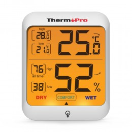 ThermoPro TP53 higrometr termometr wskaźnik wilgotności cyfrowy termometr pokojowy temperatura pokojowa i monitor wilgotności