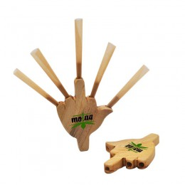Młynek do zioła fajki Tripple Barrel drewniany uchwyt Cig wspólny papieros Rolling Cone King papier palmowy fajki tytoniowe dym