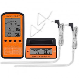 Bezprzewodowy zdalny grill termometr podwójna sonda cyfrowy gotowanie mięso jedzenie termometr piekarnika grill na świeżym powie