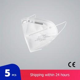 10 sztuk maski na twarz maska 4-Fly maski na usta możliwość dostosowania przed zanieczyszczeniem maseczka higieniczna filtr Resp