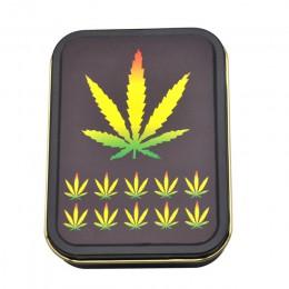 Zestaw do palenia: 1x metalowe pudełko tytoniu + 1x silikonowe fajka do tytoniu + 1x z tworzywa sztucznego młynek do ziół + 5 br