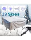 19 rozmiary meble osłona przeciwpyłowa wodoodporna pokrywa patio na świeżym powietrzu ogród deszcz śnieg krzesło pokrowce na sof