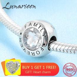 Nowy trend w modzie 925 srebro wyczyść CZ na zawsze rodzina drobne koraliki Fit oryginalny bransoletka typu charm pandora tworze