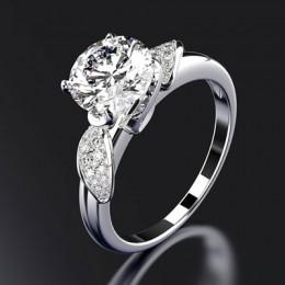 PANSYSEN czysta 925 Sterling Silver biżuteria obrączki ślubne dla kobiet najwyższej jakości luksusowe 8x8mm kamień pierścień roz