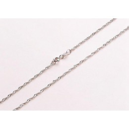 Klasyczny łańcuch podstawowy cienkie 925 Sterling Silver karabińczyk naszyjnik łańcuch biżuteria dla kobiet 40/45CM łańcuch Snac