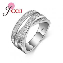 Nowe modne pierścionki dla kobiet Party eleganckie luksusowe biżuteria dla nowożeńców 925 srebro srebrne wesele pierścionek zarę