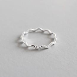 YPAY czysta 100% 925 srebro pierścienie dla dziewczyn panie proste cienka linia krzywa fala dziki gładki pierścień biżuteria YMR
