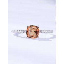 Kuololit Diaspore Zultanite pierścienie z kamieniami szlachetnymi dla kobiet dziewczyn stałe 925 Sterling srebrne wesele zaręczy