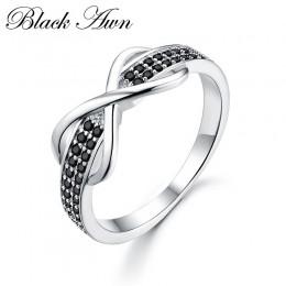 Klasyczne 2.3g 925 srebro Fine Jewelry Trendy zaręczyny moda Bague Femme dla kobiet luksusowe obrączki Bijoux C090