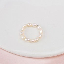 ASHIQI 3-4mm Mini mała naturalna perła słodkowodna pierścionki dla kobiet prawdziwa 925 Sterling Silver biżuteria dla kobiet 201