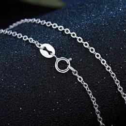 Oryginalna 925 Sterling Silver Chain naszyjnik kobieta moda długi naszyjnik ze srebra próby 100% naszyjnik ślubne ozdobne biżute