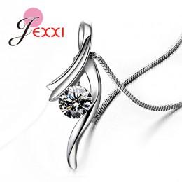 Oryginalna 925 Sterling Silver nowy modny Design naszyjnik biżuteria ślubna z cyrkonią sześcienna ładny łańcuch dla kobiet/Grils