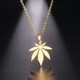 DOTIFI naszyjnik ze stali nierdzewnej dla kobiet Man Maple Leaf Choker naszyjnik biżuteria zaręczynowa