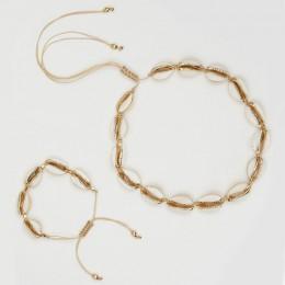 2020 moda złota Cowrie Shell Choker naszyjnik dla kobiet dziewczyna czeski muszla plaża biżuteria letnia prezent