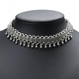 Retro Boho plaża Choker naszyjnik w stylu Vintage łańcuch ze stopu Maxi Chockers naszyjnik dla kobiet oświadczenie biżuteria YWX