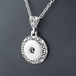 W stylu Vintage okrągłe 18mm metal xinnver snap naszyjnik i wisiorek sterling biżuteria z korale oświadczenie kobieta DIY biżute