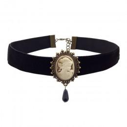 YiYaoFa elegancka róża Choker naszyjnik dla kobiet akcesoria gotycka strona biżuteria w stylu Vintage komunikat naszyjnik i wisi