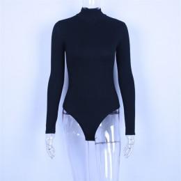 Hugcitar bawełna na szyję z długim rękawem jednolite body 2019 jesienno-zimowa damska fashion party bodycon slim fit sexy basic