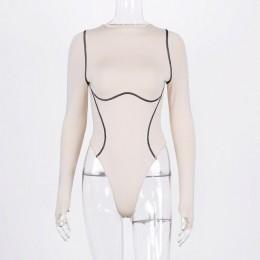 Hugcitar 2019 z długim rękawem w paski linii patchwork bodycon sexy playsuit jesień zima kobiety streetwear stroje kobiece ciało