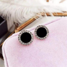 Kreatywne kolczyki 2019 czarny kwadrat geometryczne kolczyki dla kobiet kryształowe luksusowe ślubne kolczyki z kryształem złoty