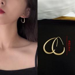 Moda kreatywne kolczyki 2019 nowy geometryczny matowe złoto kolczyki dla kobiet kolczyki wiszące spadek kolczyk nowoczesna biżut