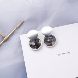 32 style koreańskie kolczyki nowe mody prosty wzór w cętki kwas octowy geometryczne długie kolczyki wiszące koło biżuteria Cryst
