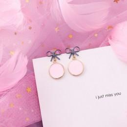 2019 różowe kolczyki koreański kwiat słodki geometryczny kolczyk imitacja perły pendientes mujer dla kobiet Tassel ucha biżuteri