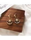 Modne geometryczne z kryształkami kobiety Dangle kolczyki Solar Moon kryształowe kolczyki dla kobiet kolczyki wiszące czeskie ko