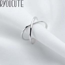 Czeski Vintage 925 srebro pierścionki z krzyżykiem dla kobiet biżuteria ślubna Trendy duże regulowane antyczne pierścienie Anill